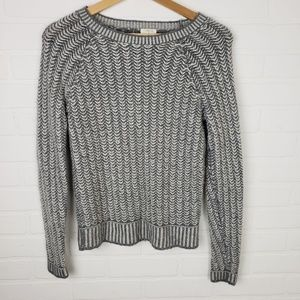 J. Crew Factory Scoop Neck Gray Sweater
